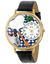 Whimsical Watches Unisex G0310002 Chef Black Leather Watch