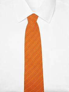 Hermès Men's Curve Tie (Orange)