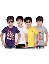 Dongli Boys Marvellous T-Shirt (Pack of 4)