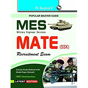 Military Engineering Services: MATE (SSK) Recruitment Exam Guide (MES)