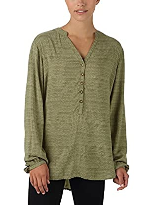 Burton Blusa Vetiver Hatch Print