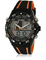 Dmf-005-Or01 Black/Black Analog & Digital Watch Flud