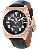 Swiss Legend Watches, Men's Heritage Black MOP Dial Rose Gold Tone IP Case Black Genuine Leather, Model 20434-RG-01MOP
