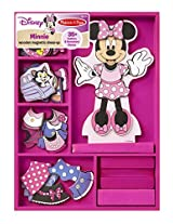 Melissa & Doug Disney Minnie Mouse Magnetic Dress-Up Wooden Doll Pretend Play Set (35+ pcs)