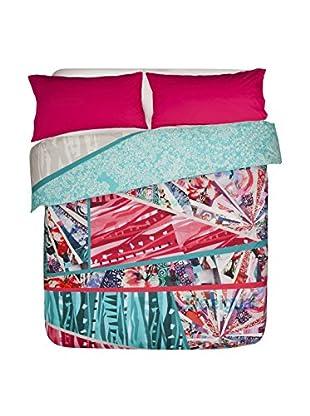 Desigual Bettdecke und Kissenbezug Collage