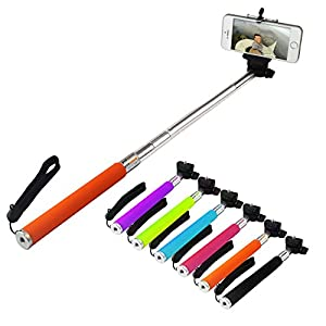 DMG Extendable Selfie Stand Stick for Mobiles / Cameras + Bluetooth Clicker Remote