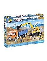 COBI Action Town Dump Truck & Excavator Building Kit