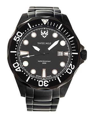 Swiss Eagle Reloj Dive Ballast negro