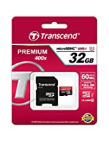 Transcend microSDHC UHS-I Premium 32GB Class 10 Memory Card (TS32GUSDCU1)