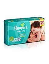 Pampers Baby Dry Large Size Diapers (60 Count) - Jumbo Pack