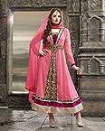 Bhuwal Fashion Light Pink Faux Georgette Long Anarkali Salwar Suit