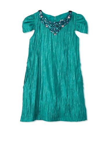 Blush by US Angels Girl's Cap Sleeve Sheath Dress (Jade)