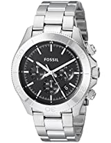 Fossil End of Season Retro Chronograph Black Dial Men's Watch - CH2848