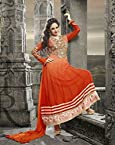 Bhuwal Fashion orange Faux Georgette Long Anarkali Salwar Suit