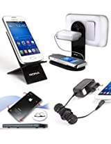 Riona Mobile Holder/Stand/Hanger MHWS + Desk Stand + Cable Organizer + Scratch Guard Pads
