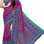 Multi Malgudi Art Silk Saree With Blouse Piece