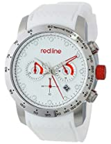 red line Men's RL-50044-02-WH Velocity White Textured Dial White Silicone Watch