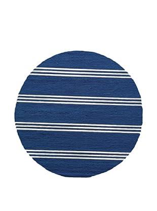 Momeni Veranda Collection Round Color Rug (Maritime Blue)
