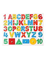 Wooden English alphabet with Number and Shapes