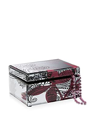 Allure Princess and Pink Leaf Mirror Jewelry Box