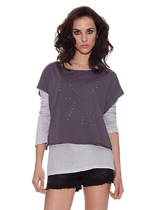 The Hip Tee Camiseta Love Holes (Gris Oscuro)