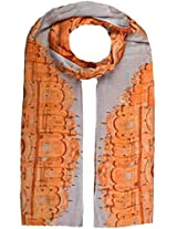 Shopatplaces Cashmere Stole In Cream-Orange