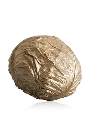 Gold Leaf Design Gilded Resin Cabbage