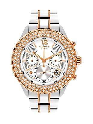 K&BROS 9171-2 / Reloj de Señora  con brazalete metálico blanco