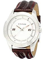 Titan Youth Analog White Dial Men's Watch - NE1587SL01