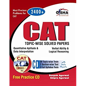 CAT Topic-Wise Solved Papers with Test & Assessment CD (Old Edition)