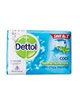 Dettol Cool with Crispy Menthol Soap, 125g (Pack of 3) Save Rs 5