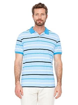 Cortefiel Polo Gestreift (Blau)
