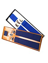 Sunshopping men's Navy blue and Black suspender(WSDWSDSC00016) (Navy blue and royal blue)