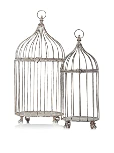 Esschert Design Set of 2 Aged Metal Birdcages