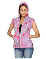Rajrang Womens Cotton Jacket -Purple, White -Small