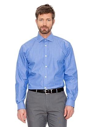 Cortefiel Hemd Gestreift (blau/ weiß)