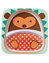 Skip Hop Zoo Little Kid & Toddler Melamine Feeding Divided Plate, Multi, Hudson Hedgehog