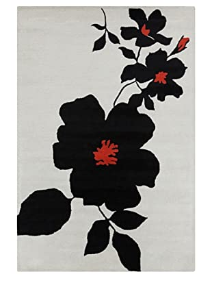 Filament Dinah Rug, Black/Red, 5' x 7' 6