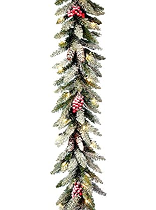 National Tree Company 9' Dunhill Fir Garland with Snow
