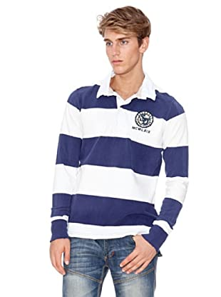 Superdry Polo Rugby (Azul Marino / Blanco)