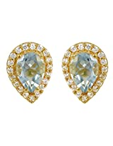 Exxotic Royal Fashion Gold Plated Silver Stud Earring For Girls & Women
