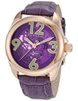 Android Women's AD528ARPU  Concept T 40 Skeleton Rosetone/Purple Watch