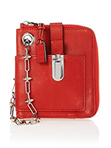 Gryson Women's CJ Spiked Chain Wristlet (Red)