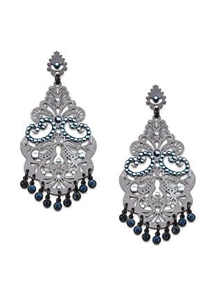 LK Designs Multi Drop Earrings , Black and Sapphire