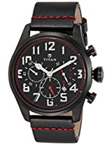 Titan Purple Chronograph Black Dial Men's Watch - 9477NL01J