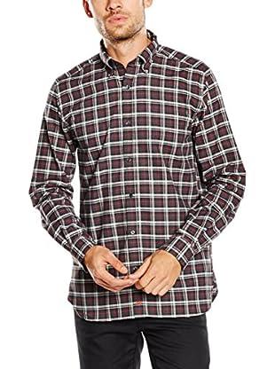 Pedro del Hierro Camisa Hombre Twill Cuadro Gris Rojo It T-Bd