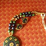 Green and Black necklace set