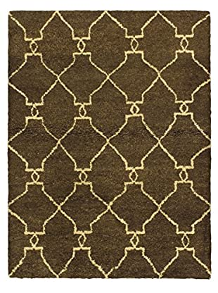 Hand-Knotted Marrakech Rug, Dark Brown, 4' 7