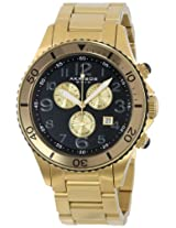 Akribos XXIV Men's AK616YG Ultimate Swiss Chronograph Black and Gold-Tone Stainless Steel Bracelet Watch