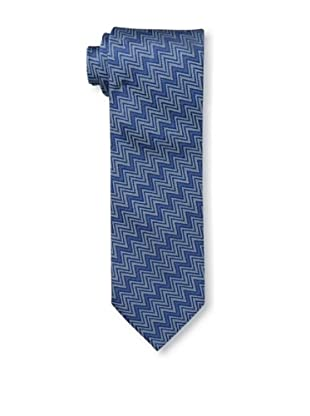 Missoni Men's Horizontal Zig Zag Tie, Blue
